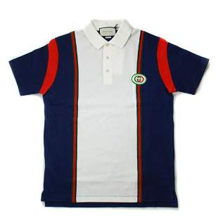 Gucci - Polo Shirt - Blue - White Stripe  Size: Extra