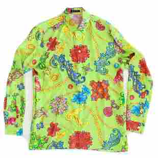 Versace - New - Mens Floral Button-Down Shirt  - Large