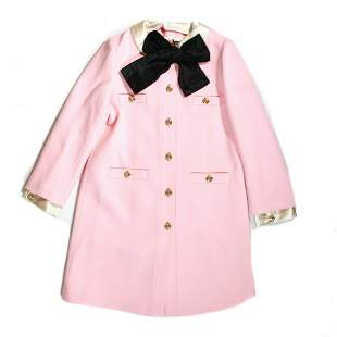 Gucci - New - Long GG Button Blazer - Pink Wool - 4