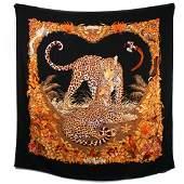 Hermes - 140 cm Jungle Love Leopard Scarf