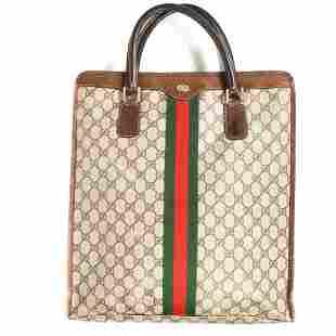 Gucci - Ophidia GG Monogram Stripe Vintage Tote Handbag