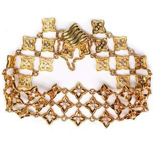 David Yurman - New - 18K Yellow Gold Diamond Bracelet