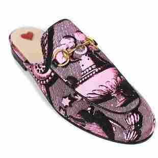 Gucci - New Princetown Graphic Slipper Mules - US 6