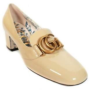 Gucci - New - Chunky Beige GG Logo Heels - US 11