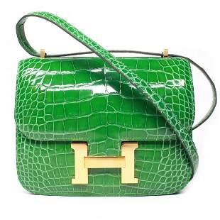 Hermes - New - 2018 Constance 18 Alligator Shoulder Bag