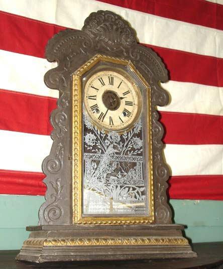 705: Ansonia Antique Mantle Clock