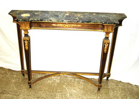 706: A Good 1920s Faux Marble French Entry Console