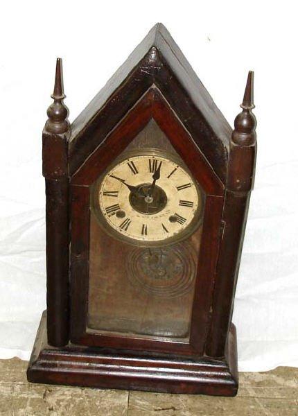 715: A Good Steeple Clock 19th Century