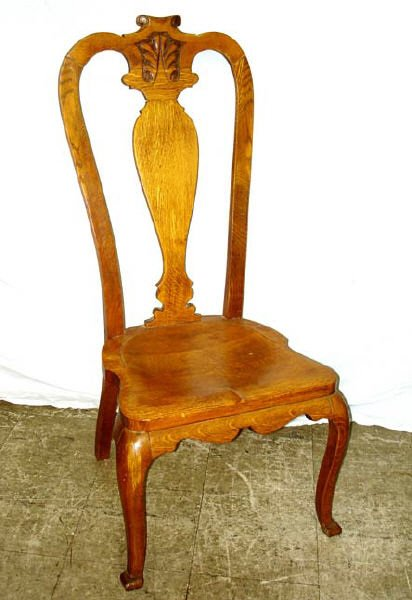 717: A Good American Oak Hall Chair