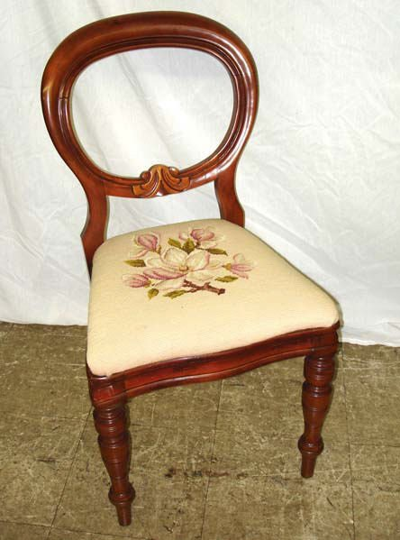 721: A Fine Victorian Needlepoint Side Chair
