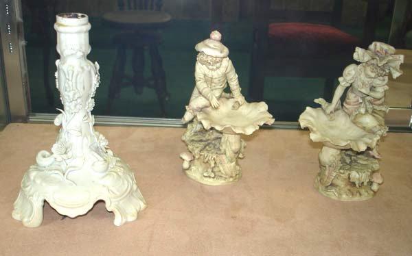 3: Meissen Porcelain Candlestick Teplitz Figures