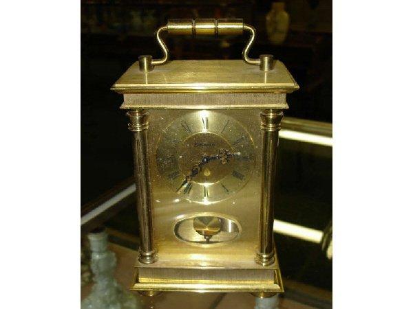 8: Vintage Brass Carriage Clock