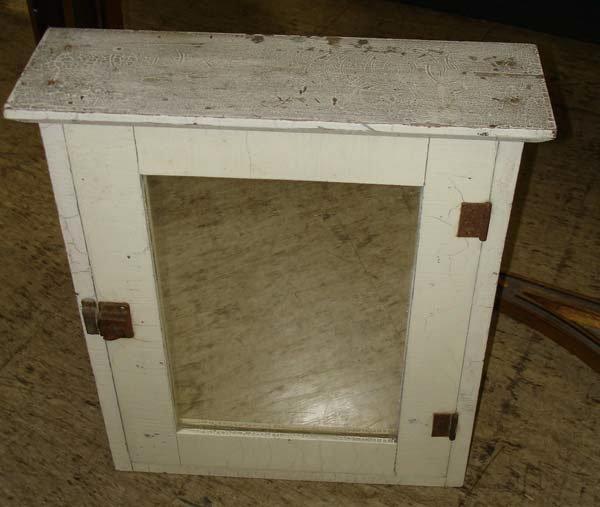 17: A Primitive White Medicine Cabinet