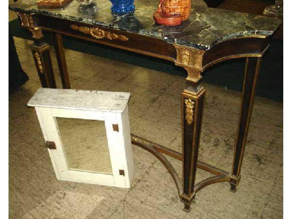 19: French Style Faux Marble Entry Table