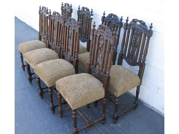 772: A Fine Set of 8 Carved French Dining Chairs