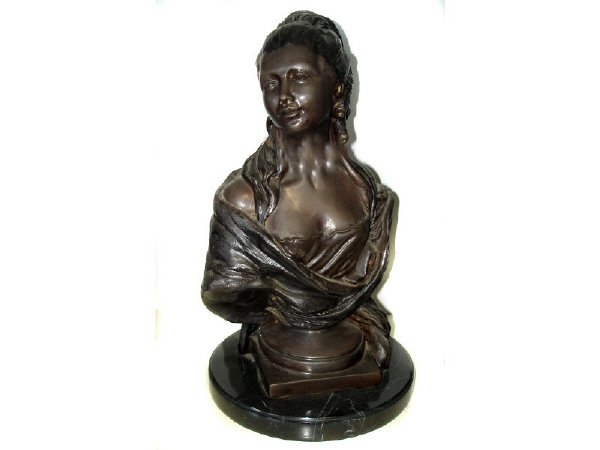 775: Bronze Female Half Bust Maiden