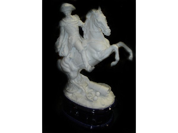 777: Bisque Figurine of Napolean on Horse