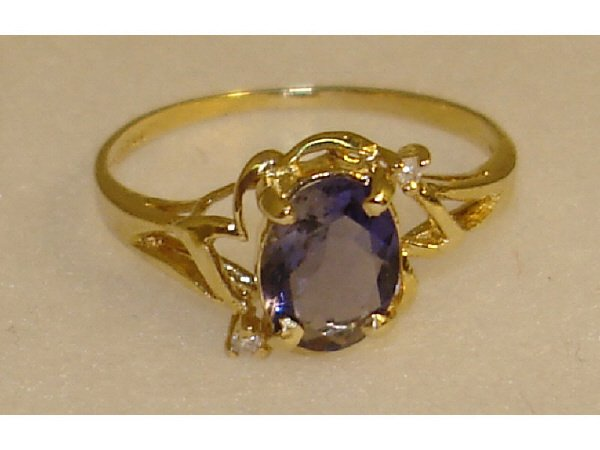 930: Amethyst and Diamond Estate Ring