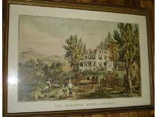 970: Currier and Ives Print The Farmers Home-Autumn