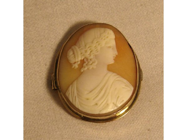981: A Good Victorian Era Carved Shell Cameo
