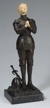 255: Joan of Arc Bronze Figural Statue