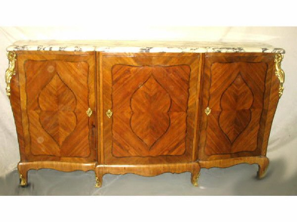 256: Fine Louis XVI French Buffet  Marble and Ormolu