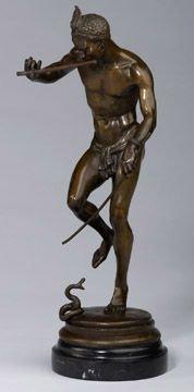 261: Bronze Figural Study