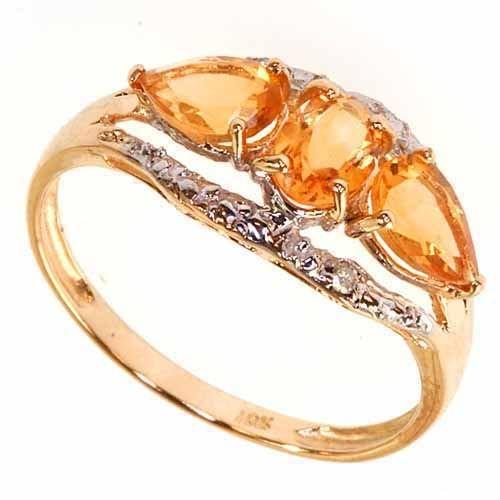 263: Orange Citrine Ring in Solid Gold
