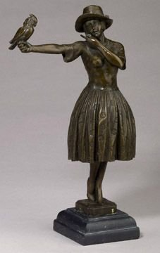 267: Figural Study of Lady with Bird