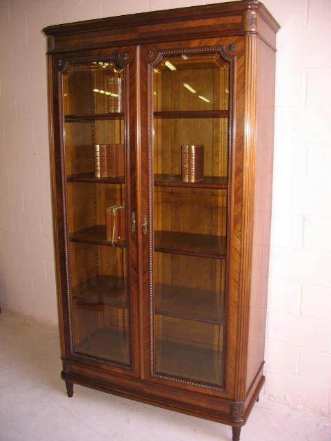 268: Fine French Walnut Double Door Bookcase
