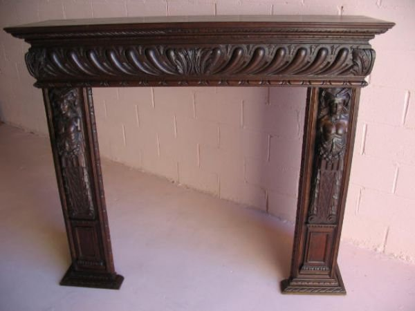 269: Figural Carved Fireplace Mantel