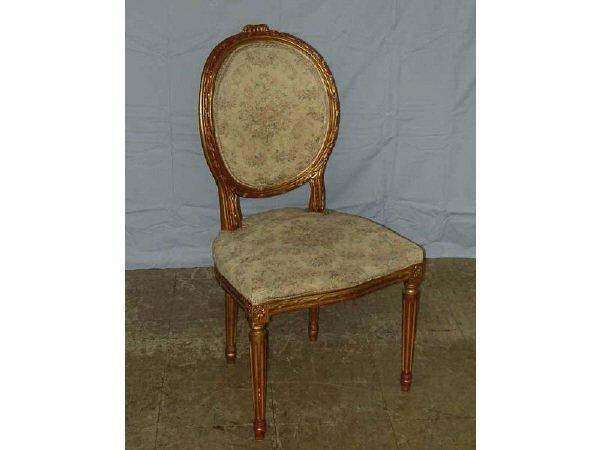 1100: French Balloon Back Salon Chair