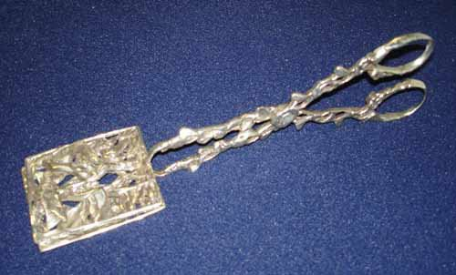 1221: Sterling Silver Asparagus Tongs