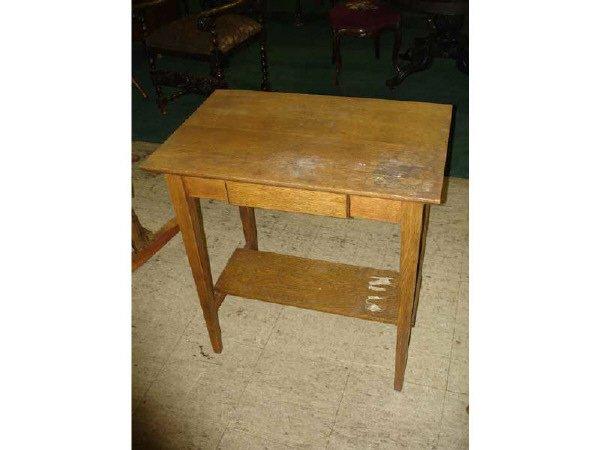 1081: Mission Oak Smaller Writing Desk