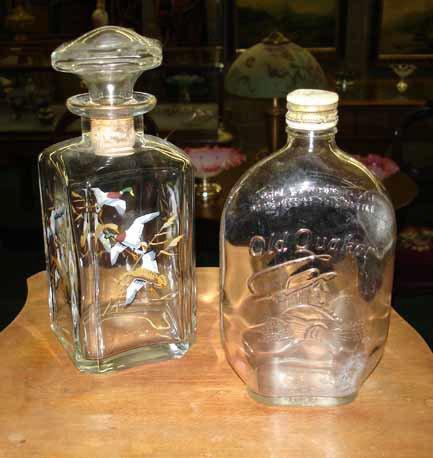 1083: Vintage Decanter and Syrup Bottle Lot