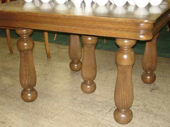 1085: Victorian Square Oak Table