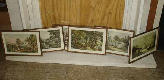 1089: Lot of Currier and Ives Prints