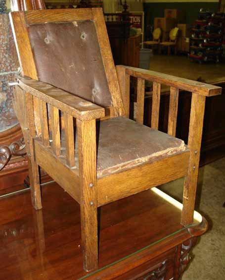 1090: Mission Oak Childs Morris Chair