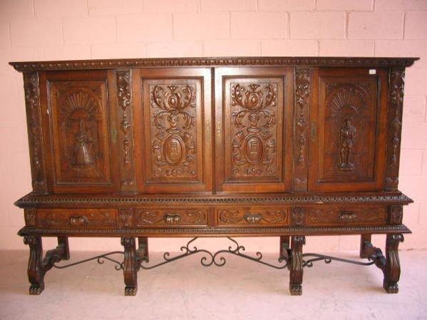 19: Fine Carved Facade Buffet