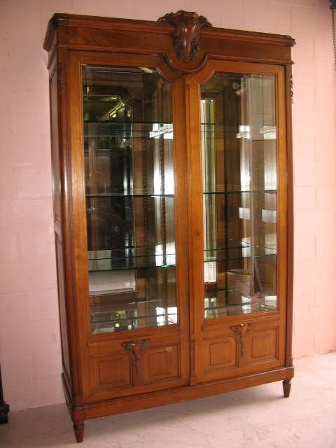 20: Classical French Design Walnut China Cabinet