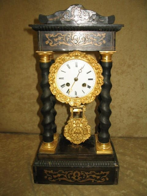 23: French Empire Revival Mantle Clock