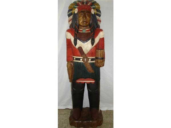 44B: Life Size Cigar Store Indian Chief
