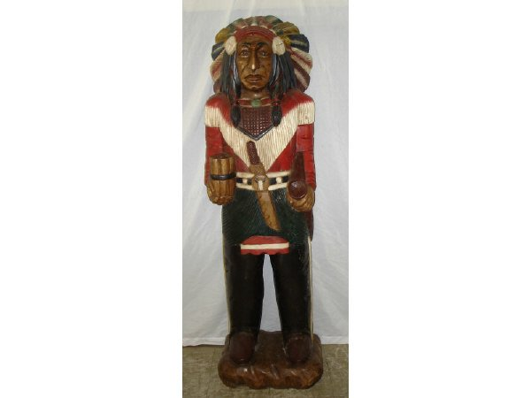 45A: Life Size Cigar Store Indian