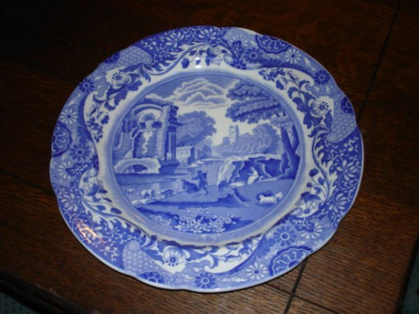 1002: Blue and White SPODE Plate