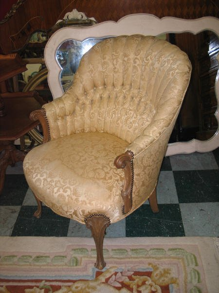 1025: Upholstered side chair