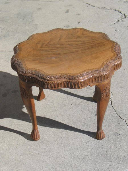4019: Carved End Table