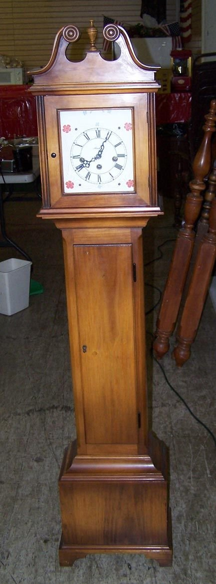 7009A: Walnut  Cased Grand Mothers Clock