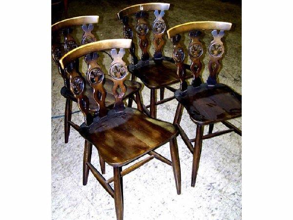 7009K: Set of 4 Walnut Chairs