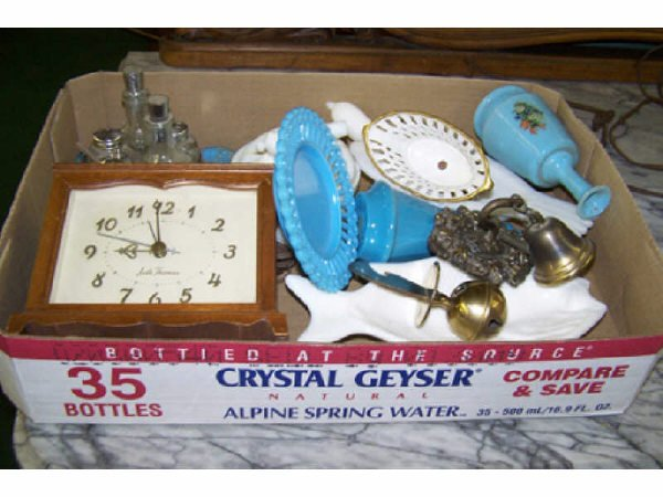 3: Boxed Lot of Glassware Including Blue
