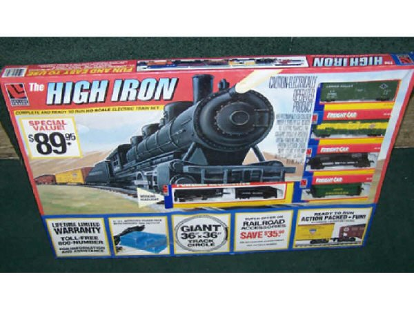 12: High Iron Toy Train Set  in Box